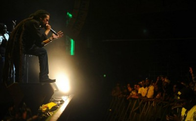 Damian Marley performs at Jamaica 50 Festival