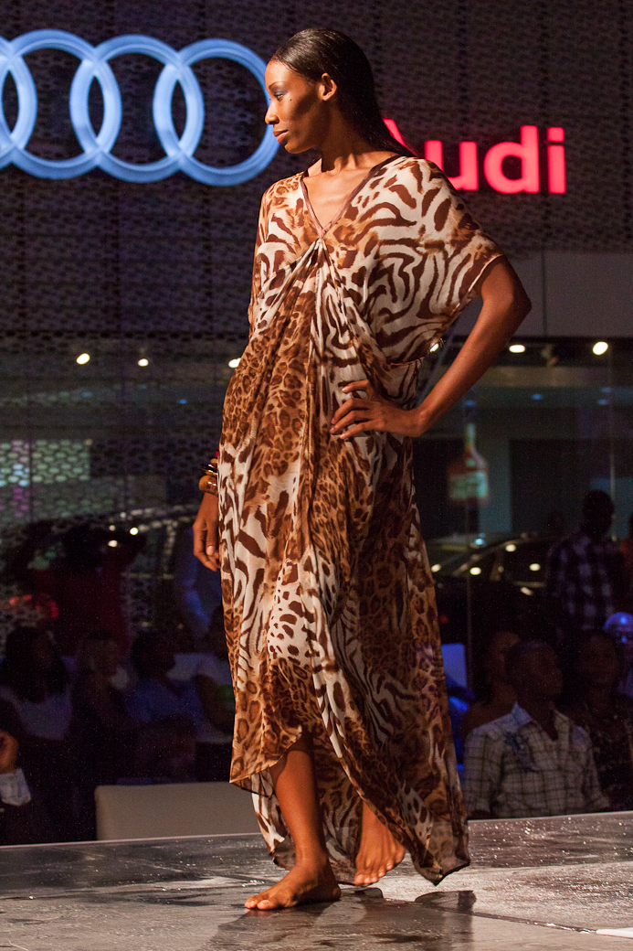 NOV 2012: The audience at the 2012 Ocean Style FashionShowcase were treated to a sneak peek of the Kaj Resort 13/14 collection, Tribu Sauvage, during the Audi Celebrity Golf Invitational. Photo courtesy Mark Gellineau.