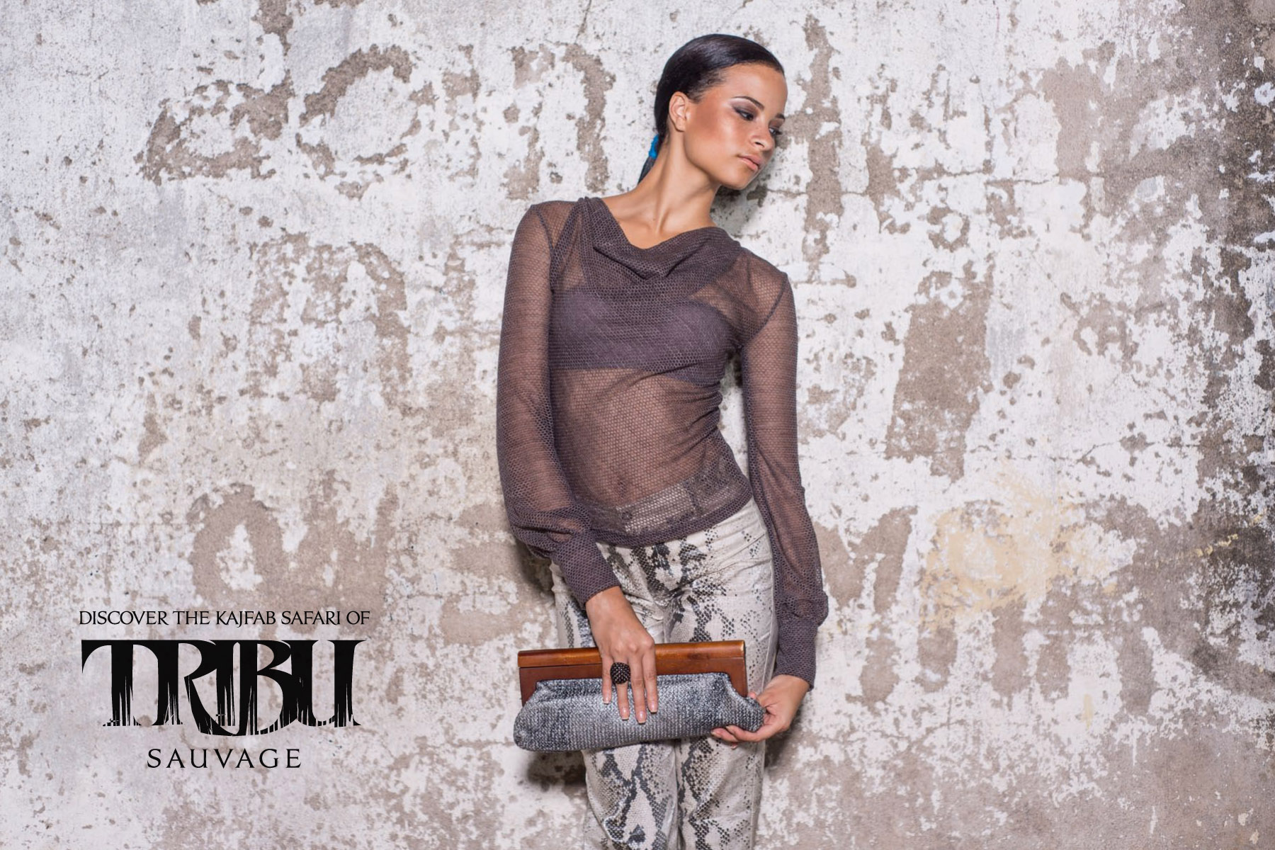 Kaj Resort 13/14 collection, Tribu Sauvage. Cowl peasant blouse and classic waxed linen trousers.