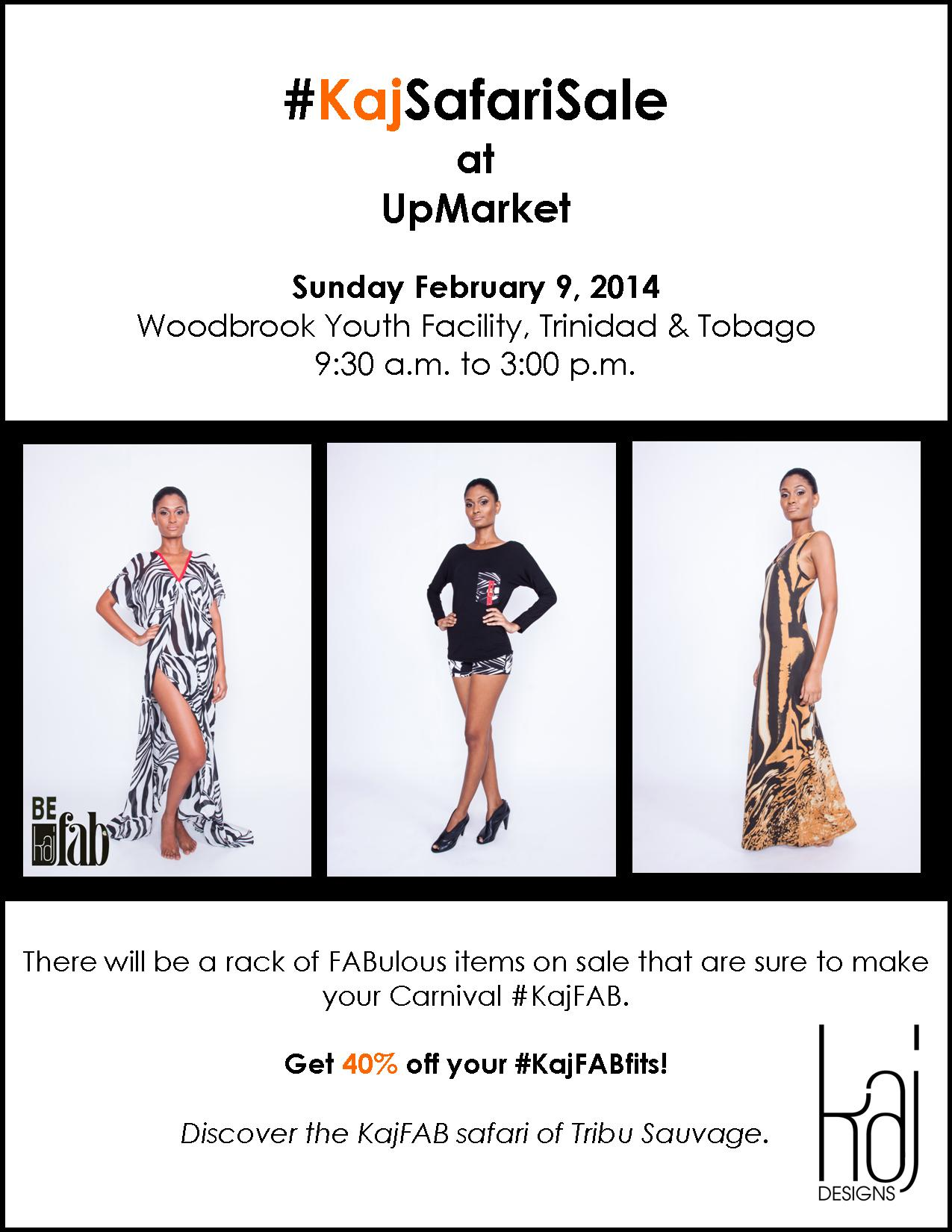 #KajSafariSale at UpMarket - Sun Feb 9, 2014