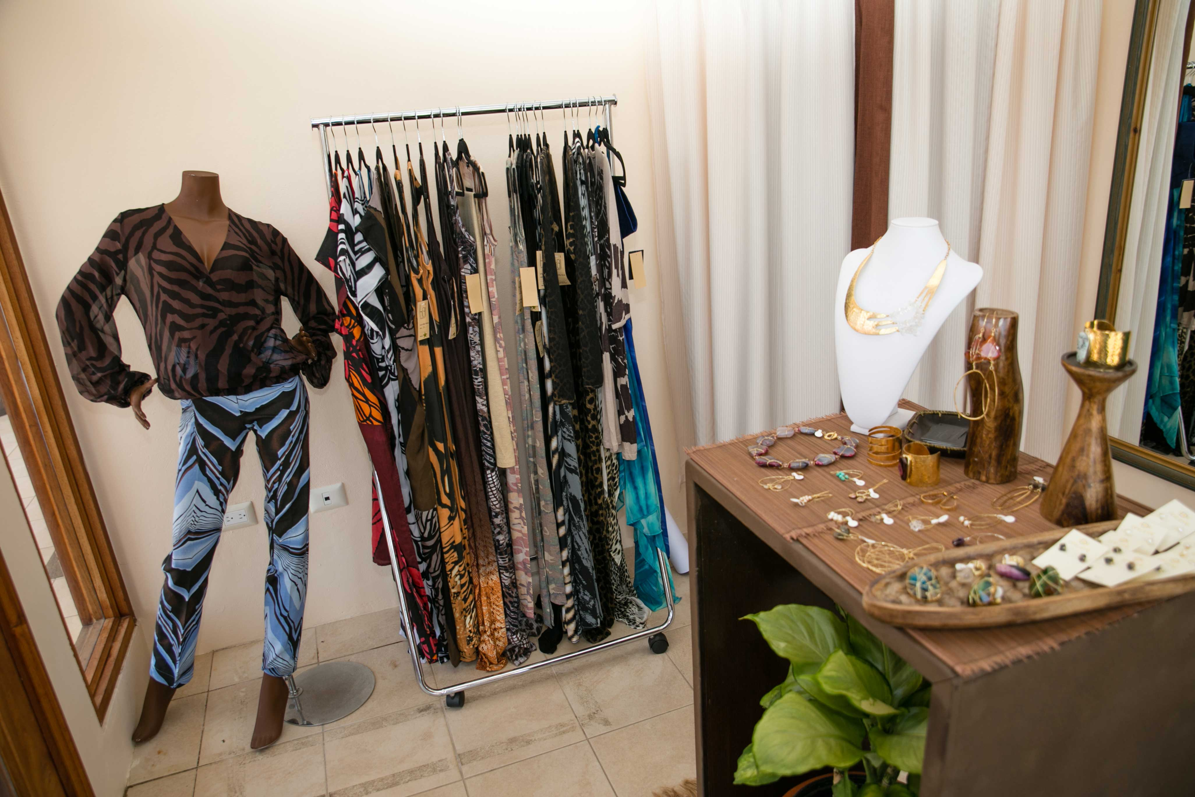 View of the interior of the Kaj Flagship Boutique where the Koko Karibi Designs line of jewellery and accessories is now available.