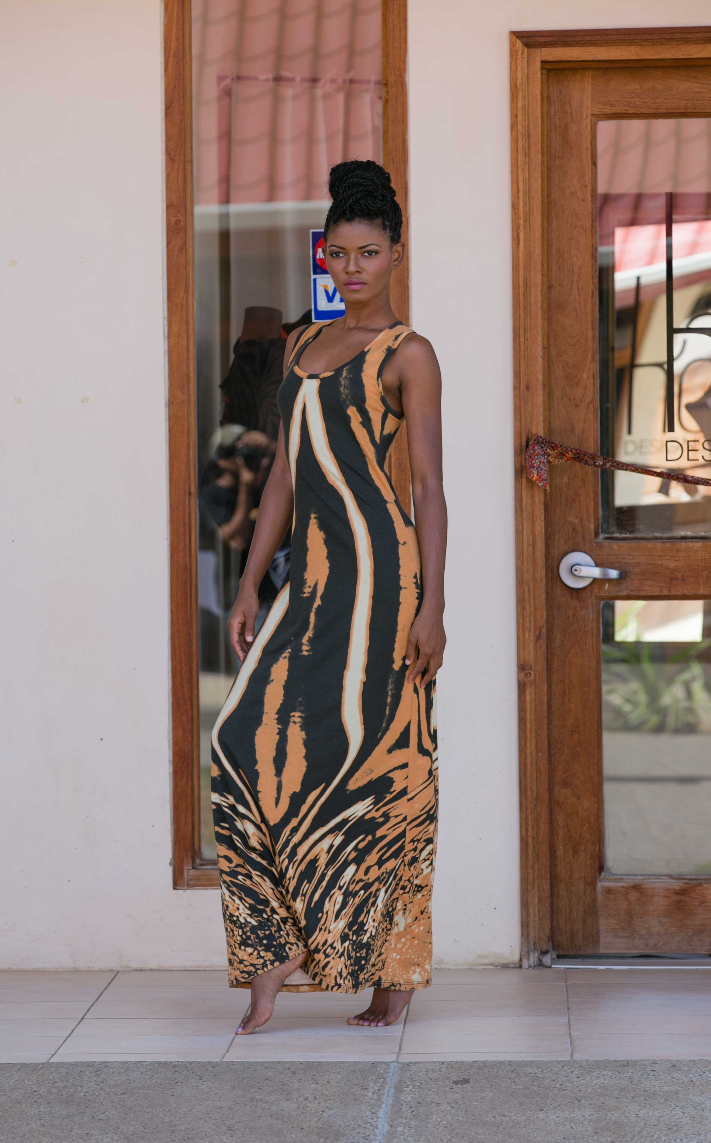 Fertility tank dress from the 2014 Kaj Resort collection, Tribu Sauvage.